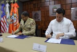 Firman convenio para fortalecimiento de capacidades en Gestión Integral de Riesgos de Desastres