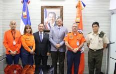 Embajador de Guatemala en el país visita a la Defensa Civil