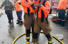 Defensa Civil brinda apoyo en labores extinción de incendio...