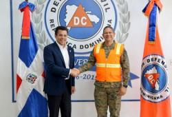 Alcalde del Distrito Nacional visita instalaciones de la Defensa Civil