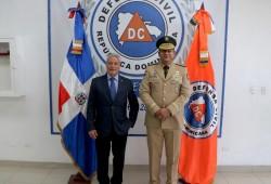 Defensa Civil recibe visita del Ministro de Industria, Comercio y Mipymes