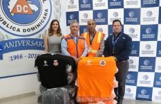 Defensa Civil recibe donativo de 600 t-shirts para ser utilizados en...