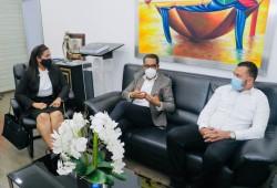 Defensa Civil y Gobernación Sánchez Ramírez acuerdan fortalecer acciones en gestión de riesgos
