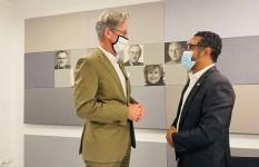 Director Juan Salas visita embajador de Alemania en el país, Volker...