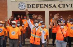 Director de la Defensa Civil, Juan Salas, visita e inspecciona...